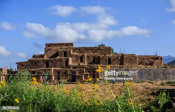 MEXICO JULY 17 2014 Taos Pueblo Taos July 17 2014 Taos Pueblo is a UNESCO World Heritage Site where the Taosspeaking tribe of Pueblo Indians has been...
