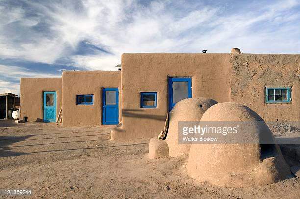 NM, Taos, Taos Indian Pueblo, Pueblo Buildings