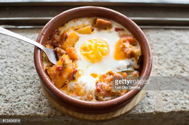 tapa of egg and chorizo