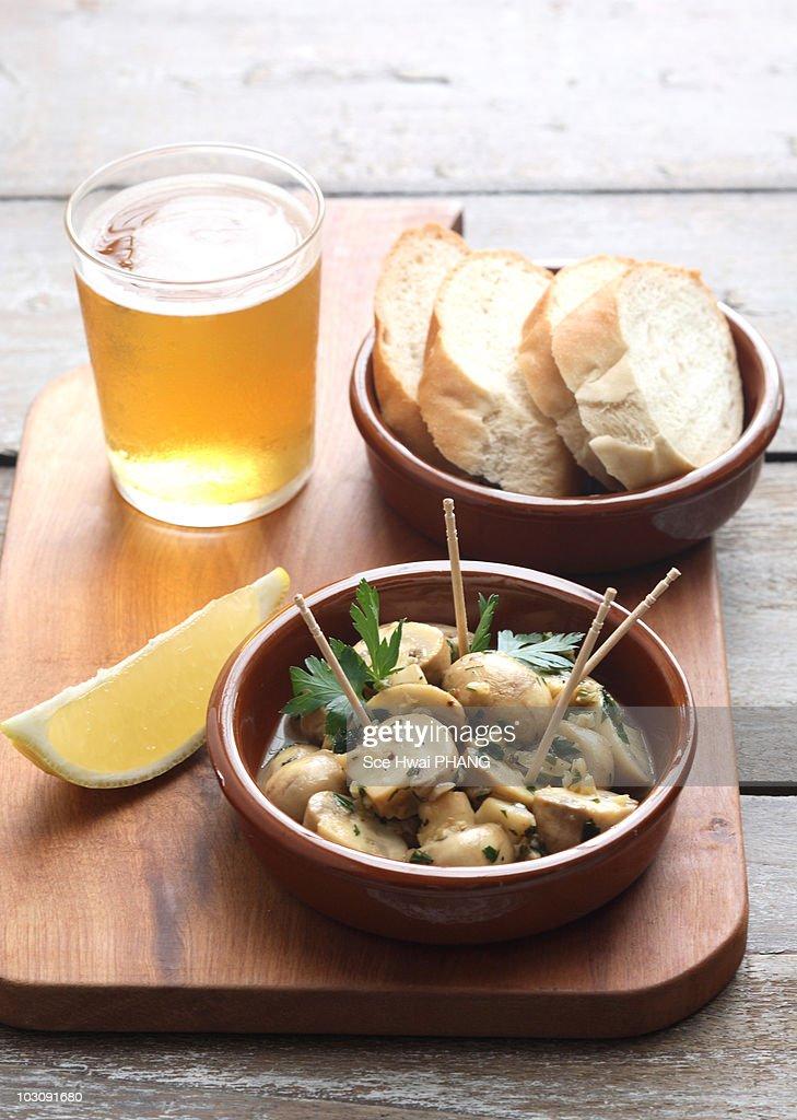 Tapas - Sauteed mushrooms