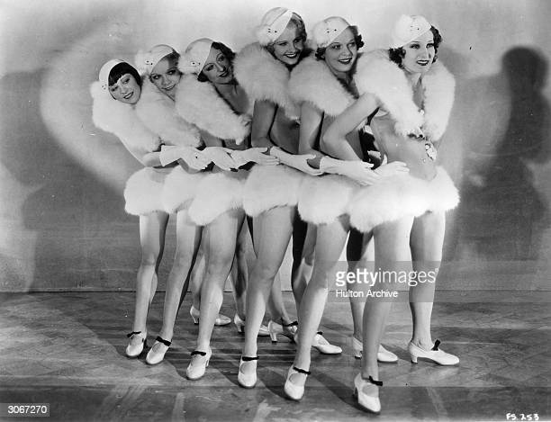 Tapdancing chorus girls in the film 'Forty Second Street' a Busby Berkeley movie