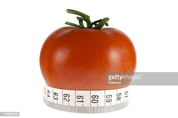 Tape measure and tomato