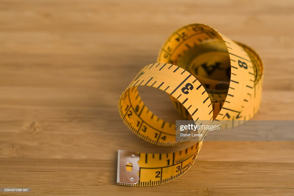 Tape measure, coiled up, close-up