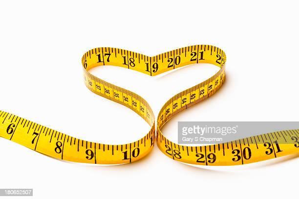 Tape measure in shape of heart