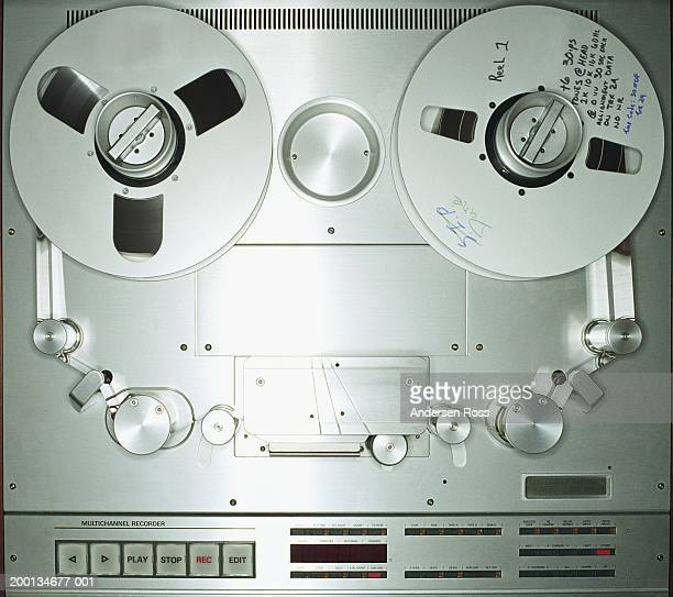 Tape recorder in recording studio, close-up