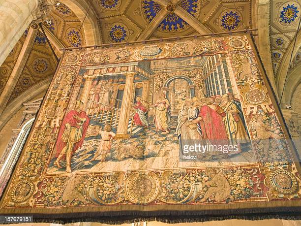 Tapestry in cathedral Como