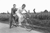 B Tapie And B Hinault In Britain On January 1st 1982