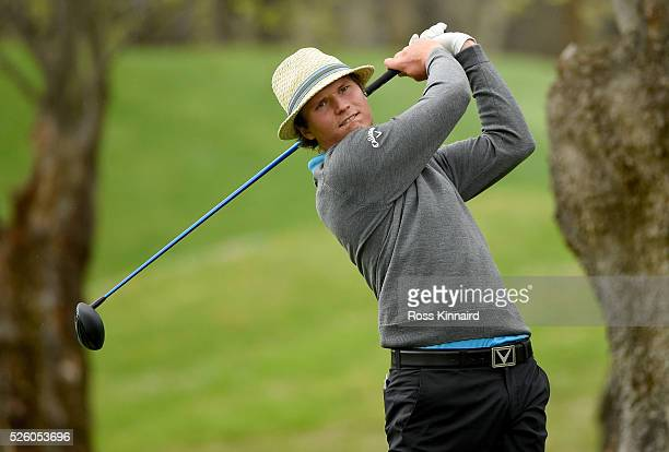 Tapio Pulkkanen of Finland during the first round of Challenge de Madrid at the Real Club de Golf La Herreria on April 28 2016 in Madrid