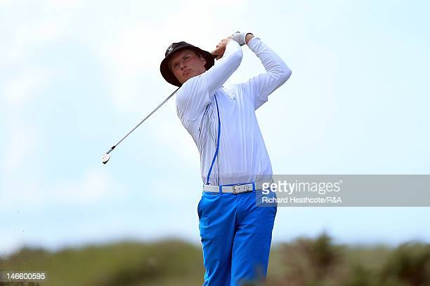 Tapio Pulkkanen of Finland in action during the Second Matchplay Round of the 2012 Amateur Championships at Royal Troon on June 20 2012 in Troon...