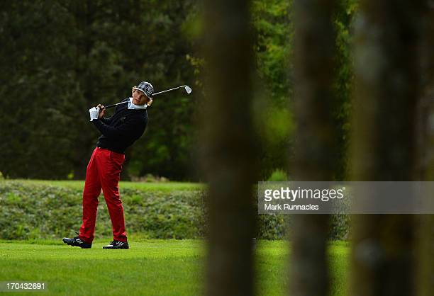 Tapio Pulkkanen of Finland on the 16th tee during the First Round of the Najeti Hotels et Golfs Open at St Omer Golf Course on June 13 2013 in St...
