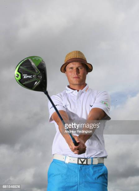 Tapio Pulkkanen of Finland poses for a portrait during the Open de Portugal at Morgado Golf Resort on May 10 2017 in Portimao Portugal