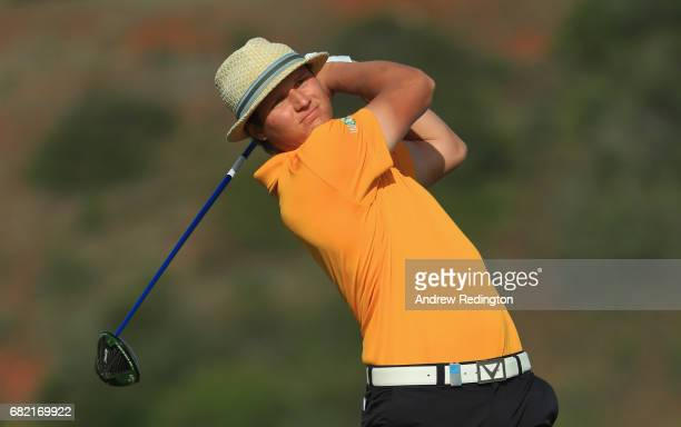 Tapio Pulkkanen of Finland tees off on the 9th hole during day two of the Open de Portugal at Morgado Golf Resort on May 12 2017 in Portimao Portugal