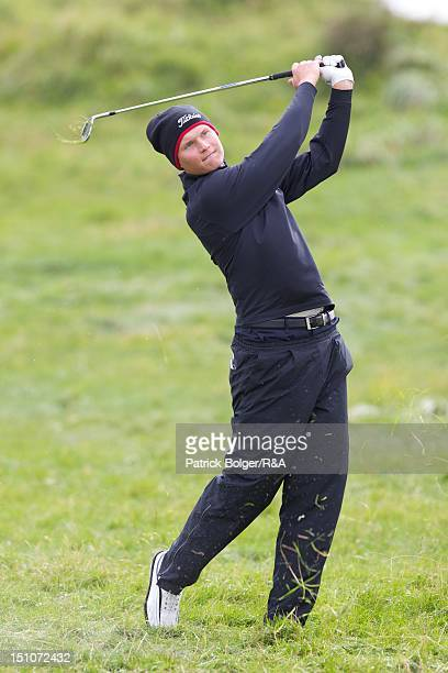 Tapio Pulkkanen of the Continent of Europe team during the St Andrews Trophy Matches at Portmarnock Golf Club on August 31 2012 in Portmarnock Ireland