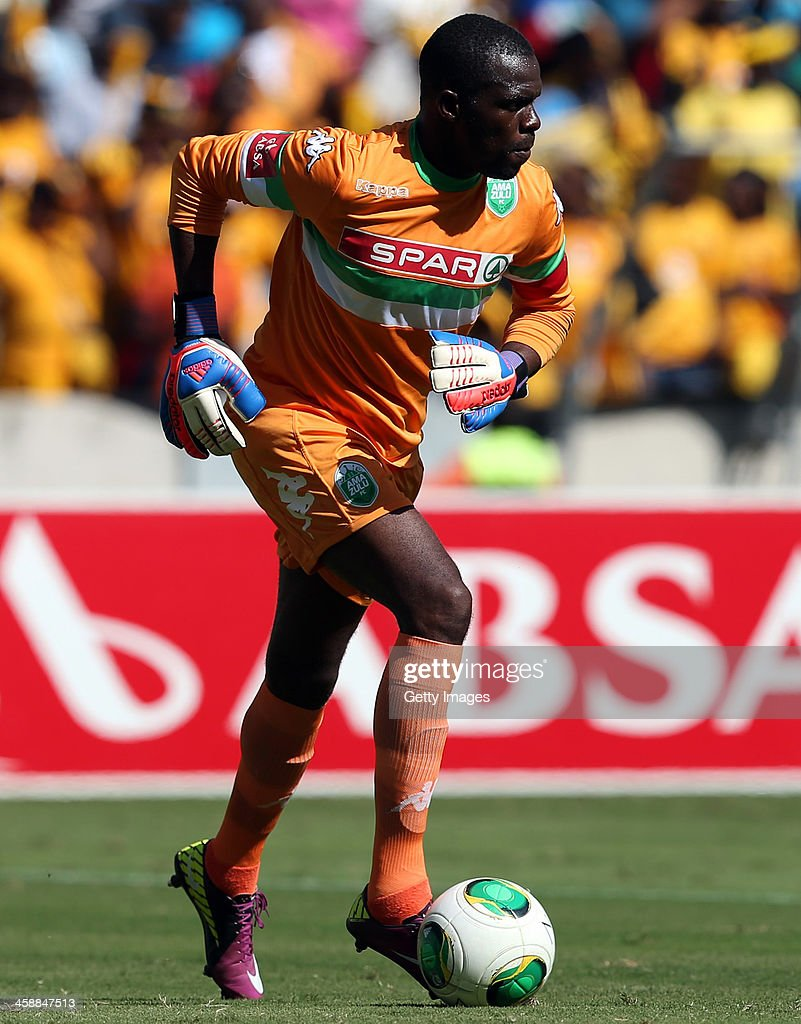 Tapuwa Kapini (GK) (C) of AmaZulu during the Absa Premiership match between AmaZulu and Kaizer Chiefs at Moses Mabida Stadium on December 22, 2013 in Durban, South Africa.