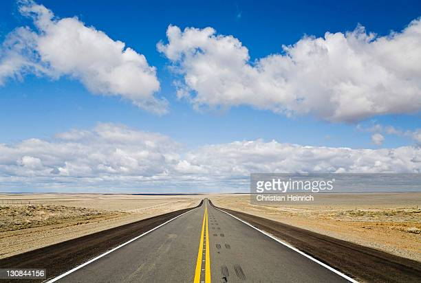 Tar road in the south of Chile, Patagonia, Chile, South America