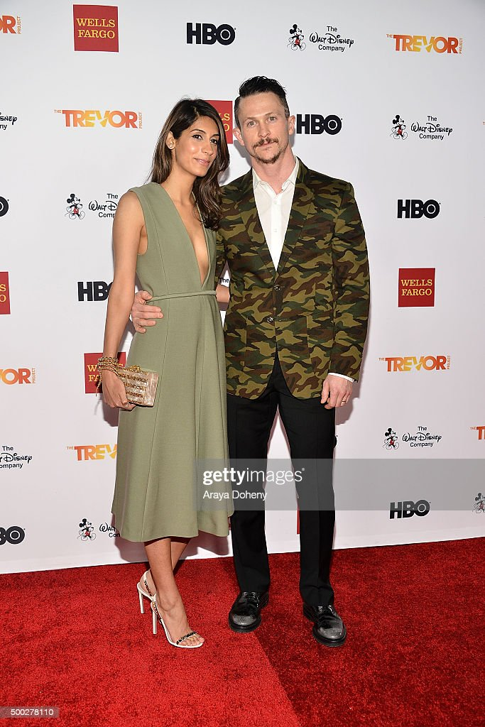 Tara Ahamed and Jonathan Tucker attend the TrevorLIVE LA 2015 event at Hollywood Palladium on December 6 2015 in Los Angeles California