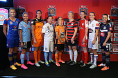 Tara Andrews of Newcastle Jets Kyah Simon of Sydney FC Lydia Williams of Canberra Lisa De Vanna of Melbourne City Katrina Gorry of Brisbane Roar...