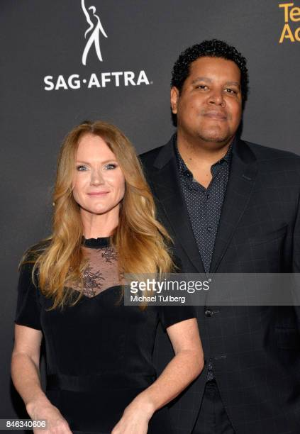 Tara Buck and Chris Pierce attend the Television Academy and SAGAFTRA's 5th annual Dynamic and Diverse Celebration at Saban Media Center on September...