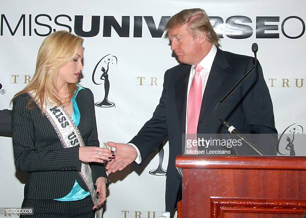 Tara Conner Miss USA and Donald Trump during Donald Trump Holds Press Conference with Miss USA Tara Conner Regarding Possible Dismissal her Miss USA...
