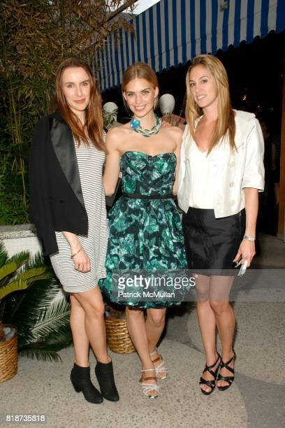 Tara Hannert Emily Senko and Lesley Thompson attend LOUIS VUITTON 2011 Cruise Collection Launch at North Cabana on June 10 2010 in New York City