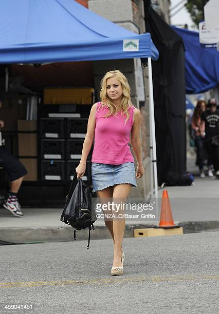 Tara Holt is seen filming 'Camp XRay' on July 21 2013 in Los Angeles California