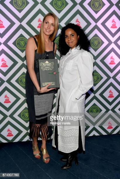 Tara King Brand Manager for Buchanan's and Danay Suarez attend Buchanan's New Artist during the 18th annual Latin Grammy Awards at Casa Buchanan's in...
