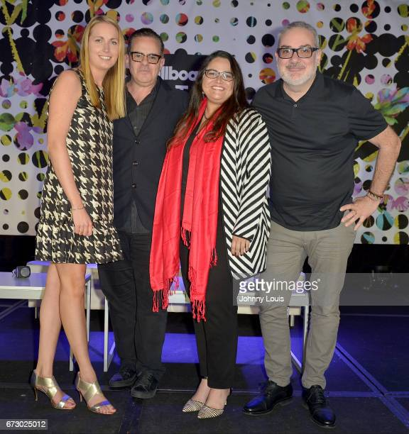 Tara King Carleys Hepburn Luis Miguel Messianu and Alberto Lorente during The Billboard Latin Music Conference Awards Marketing Panel/ Case Study...