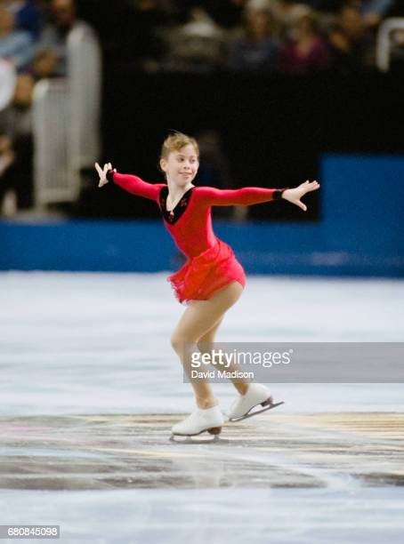 Tara Lipinski of the USA skates in the Free Skate portion of the Ladies' Singles competition of the 1996 United States Figure Skating Championships...