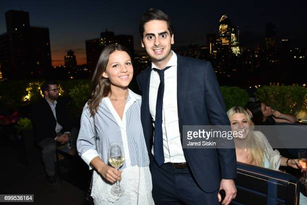 Tara Mullally and Peter Sinensky attend The Junior Board of The TEAK Fellowship Presents A Midsummer Night at PhD Lounge at the Dream Downtown New...
