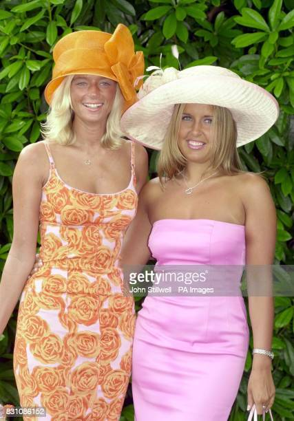 Tara Murtagh and Mel Reynolds arrive at Royal Ascot on the final day of the four day race meeting at the Berkshire racecourse