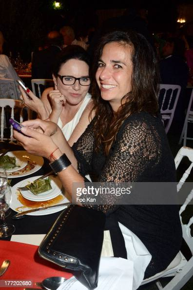 Tara Newley and Lisa Tsatsaros attend the Massimo Gargia's Birthday Dinner at Moulins de Ramatuelle on August 21 2013 in Saint Tropez France