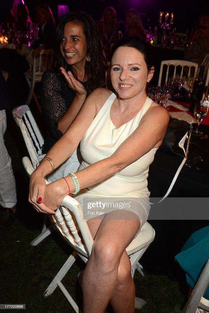 Tara Newley and Lisa Tsatsaros (L) attend the Massimo Gargia's Birthday Dinner at Moulins de Ramatuelle on August 21, 2013 in Saint Tropez, France.