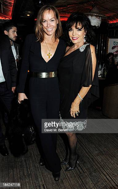 Tara Palmer Tomkinson and Joan Collins attend a private dinner hosted by Joan Collins at Mahiki on October 12 2013 in London England