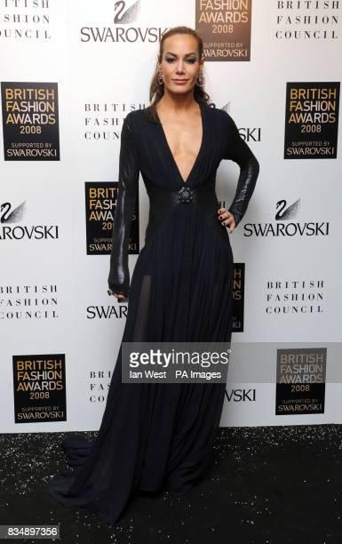 Tara Palmer Tomkinson arrives for the 2008 British Fashion Awards at the Royal Horticultural Hall 80 Vincent Square London