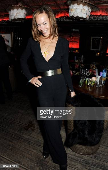 Tara Palmer Tomkinson attends a private dinner hosted by Joan Collins at Mahiki on October 12 2013 in London England