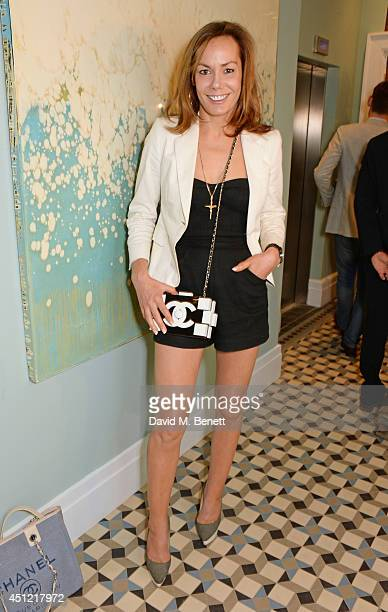 Tara Palmer Tomkinson attends the grand opening of LIBRARY on June 25 2014 in London England