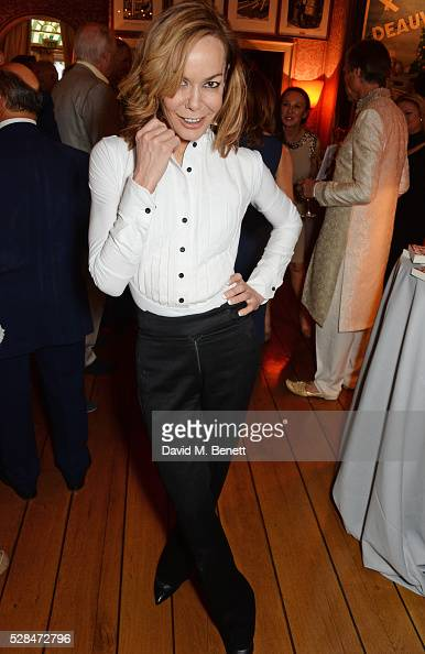 Tara Palmer Tomkinson attends the launch of Dame Joan Collins' new book 'The St Tropez Lonely Hearts Club' at Harry's Bar on May 5 2016 in London...