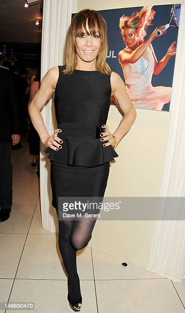 Tara Palmer Tomkinson attends the WTA PreWimbledon Party presented by Dubai Duty Free at Kensington Roof Gardens on June 21 2012 in London England