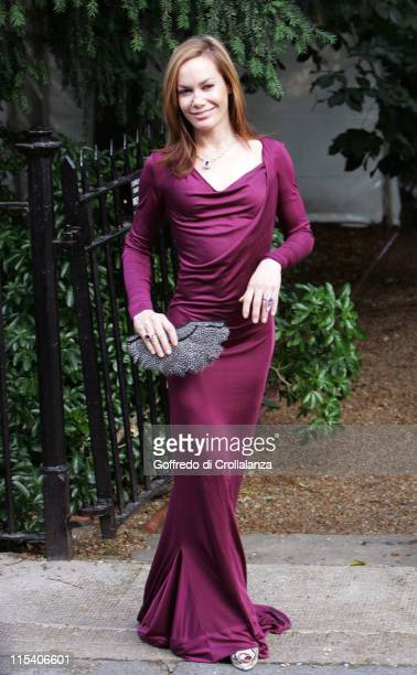 Tara Palmer Tomkinson during David Frost Summer Party July 5 2006 at Carlyle Square in London Great Britain