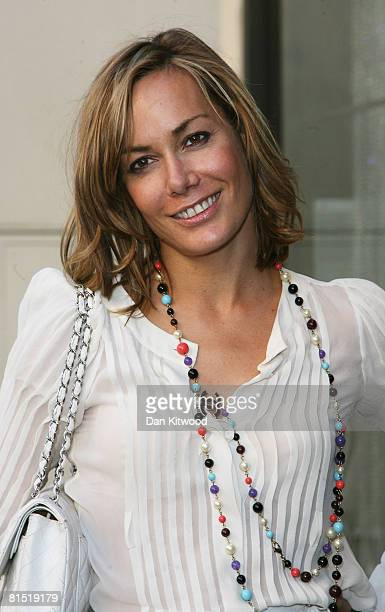Tara Palmer Tompkinson arrives to the Coutts Jewellery week launch party at Coutts and Co on June 10 2008 in London England