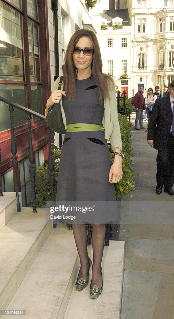 Tara Palmer Tompkinson during 2005 InStyle Shopping Awards - Winners Lunch at Morton's, Berkeley Square in London, Great Britain.