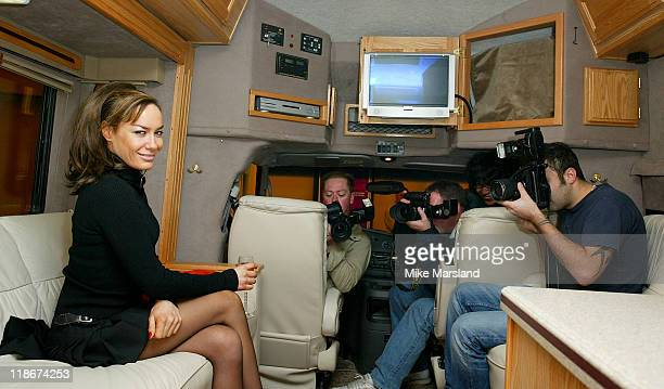 Tara Palmer Tompkinson during The Caravan and Outdoor Leisure Show at Earls Court in London United Kingdom