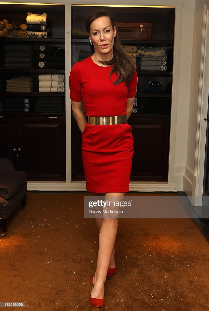 Tara Palmer-Tomkinson appears in store to launch the Klosters Snow Polo tournament at Hackett London on December 7, 2011 in London, England.