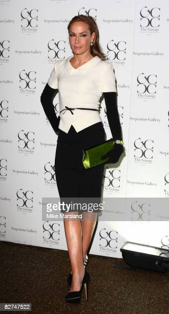 Tara PalmerTomkinson arrives at the summer party at The Serpentine Gallery on September 9 2008 in London England