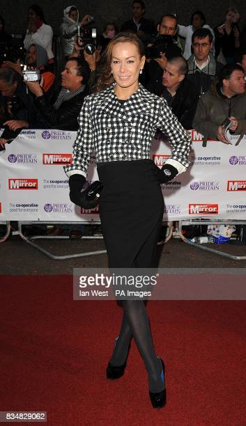 Tara PalmerTomkinson arrives for the Pride of Britain Awards at the London Television Centre Upper Ground SE1