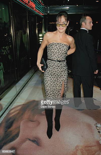 Tara PalmerTomkinson attends the London premiere of 'Titanic' at the Empire Leicester Square 18th November 1997