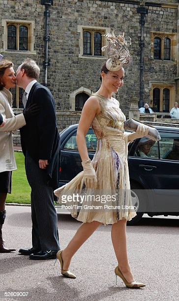 Tara PalmerTomkinson attends the Service of Prayer and Dedication blessing the marriage of TRH the Prince of Wales and The Duchess Of Cornwall...