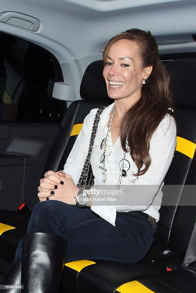 Tara Palmer-Tomkinson dines at Buddha Bar on April 6, 2013 in London, England.