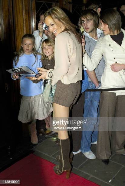 Tara PalmerTomkinson during Sugababes in Concert October 29 2006 Arrivals at Dominion Theatre in London Great Britain