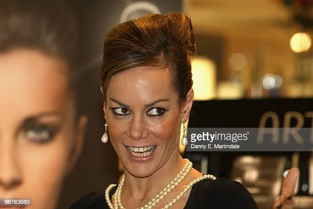 Tara PalmerTomkinson launches Artdeco at Fenwick Brent Cross Shopping Centre on April 30 2010 in London England